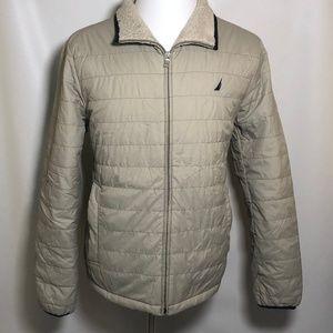 Nautica S Small Men's Jacket Puffer Full Zip Tan